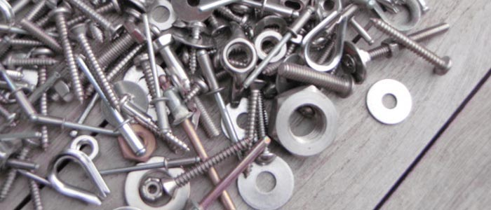 steel fasteners for marine purposes