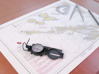 map with compass navigation