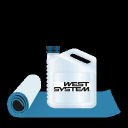 west system-fibreglass icon