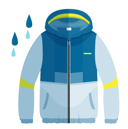 wet weather sailing clothing icon