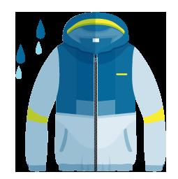 wet weather sailing clothing icon