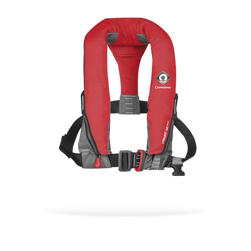 crewsaver yoke style inflatable life-jacket with harness